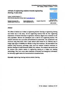 Attitude of engineering students towards engineering drawing: A case study