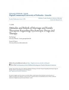 Attitudes and Beliefs of Marriage and Family Therapists Regarding Psychotropic Drugs and Therapy