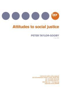 Attitudes to social justice