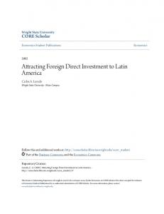 Attracting Foreign Direct Investment to Latin America