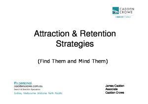 Attraction & Retention Strategies