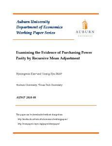 Auburn University Department of Economics Working Paper Series