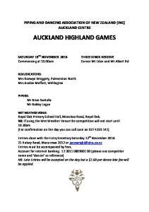 AUCKLAND HIGHLAND GAMES