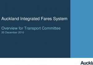 Auckland Integrated Fares System