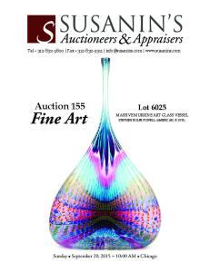 Auction 155 Fine Art. Lot Sunday September 20, 2015 ~ 10:00 AM Chicago. Tel Fax