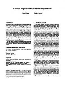 Auction Algorithms for Market Equilibrium