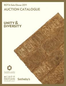 AUCTION CATALOGUE UNITY & DIVERSITY