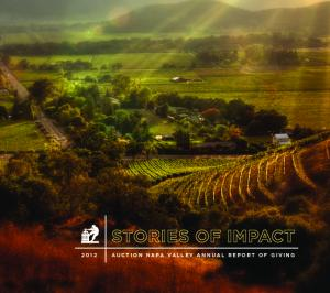 AUCTION NAPA VALLEY ANNUAL REPORT OF GIVING