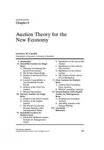 Auction Theory for the New Economy