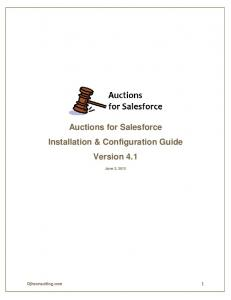 Auctions for Salesforce Installation & Configuration Guide Version 4.1