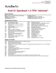 Audi A1 Sportback 1.4 TFSI Admired