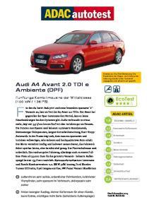 Audi A4 Avant 2.0 TDI e Ambiente (DPF)