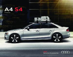 Audi A4 S4 Genuine Accessories. Powerful. Versatile. Expressive