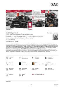 Audi A5 Sportback. Audi Code ADQ7B5ZS