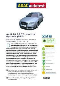 Audi A6 3.0 TDI quattro tiptronic (DPF)