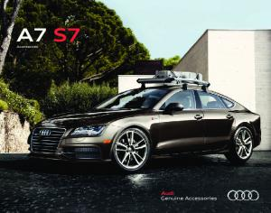 Audi A7 S7 Genuine Accessories. Powerful. Versatile. Expressive