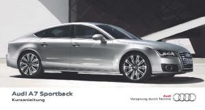 Audi A7 Sportback Kurzanleitung