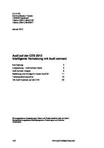 Audi auf der CES 2012 Intelligente Vernetzung mit Audi connect