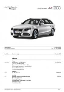 Audi Konfigurator A4 Avant