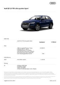 Audi Q5 2.0 TDI ultra quattro Sport
