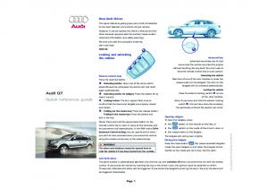 Audi Q7 Quick reference guide