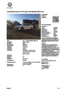 Audi S5 Sportback 3.0 TFSI quattro 245 kw (333 PS) S tronic