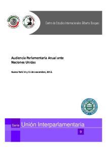 Audiencia Parlamentaria Anual ante Naciones Unidas