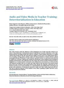 Audio and Video Media in Teacher Training: Deterritorialization in Education