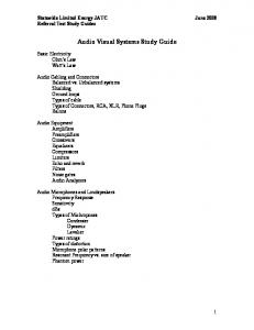 Audio Visual Systems Study Guide