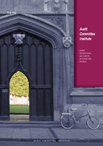 Audit Committee Institute