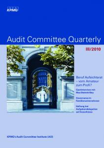 Audit Committee Quarterly