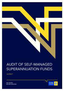 AUDIT OF SELF-MANAGED SUPERANNUATION FUNDS