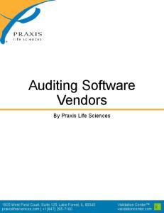 Auditing Software Vendors