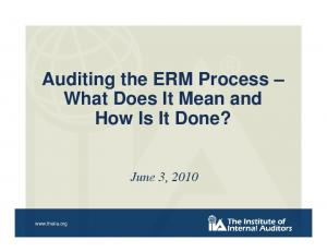 Auditing the ERM Process What Does It Mean and How Is It Done?