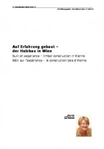 Auf Erfahrung gebaut der Holzbau in Wien