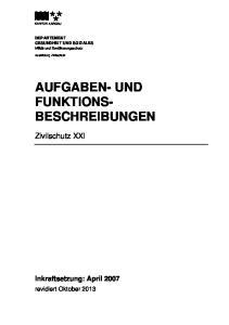 AUFGABEN- UND FUNKTIONS- BESCHREIBUNGEN