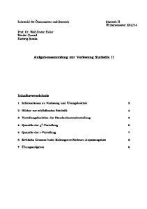 Aufgabensammlung zur Vorlesung Statistik II