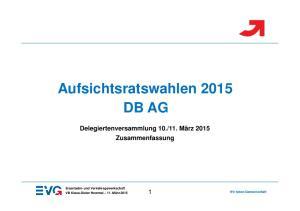 Aufsichtsratswahlen 2015 DB AG