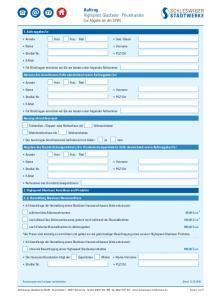 Auftrag Highspeed Glasfaser Privatkunden (zur Abgabe bei der SSW)
