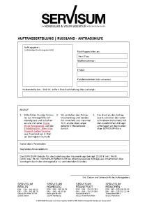 AUFTRAGSERTEILUNG RUSSLAND - ANTRAGSHILFE