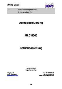 Aufzugssteuerung MLC Betriebsanleitung