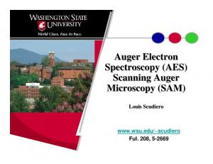 Auger Electron Spectroscopy (AES) Scanning Auger Microscopy (SAM)