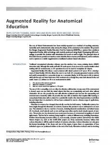 Augmented Reality for Anatomical Education