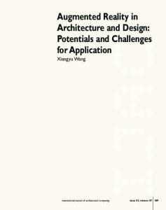 Augmented Reality in Architecture and Design: Potentials and Challenges for Application