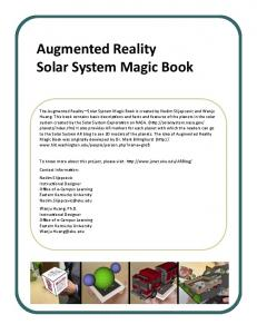 Augmented Reality Solar System Magic Book