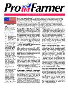 August 13, 2011 Vol. 39, No. 33