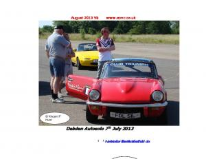 August 2013 V6   Debden Autosolo 7th July 2013 Ne N s w f s o r f o t r h t o h s o e s t e h t a h t a d t o do