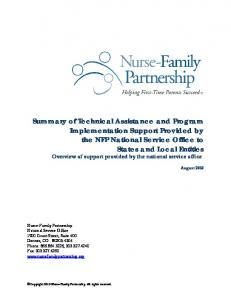 August Copyright 2010 Nurse-Family Partnership. All rights reserved
