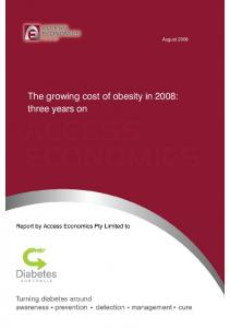 August The growing cost of obesity in 2008: three years on