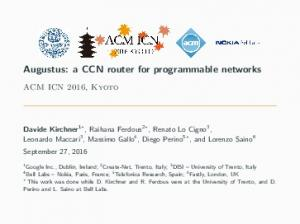 Augustus: a CCN router for programmable networks